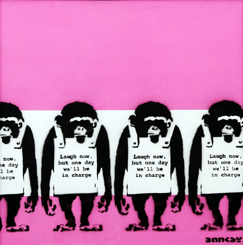 Banksy Four Monkeys