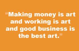 Week of March 11 – Making Money is Art