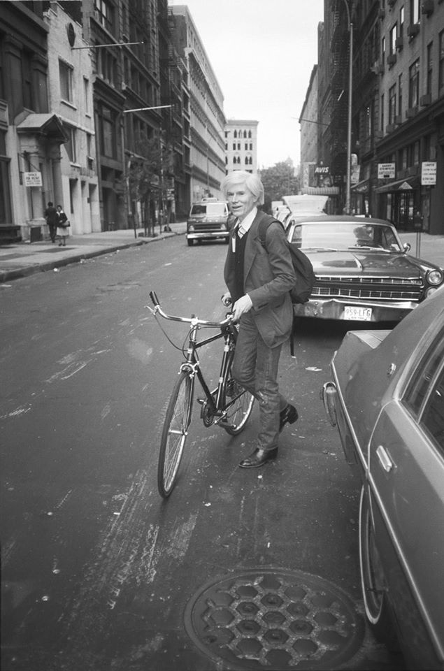 photo of andy warhol in nyc